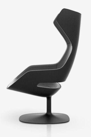 Photo of Evolution armchair in black, 2007. minimal design | armchair. Armchair . fauteu …