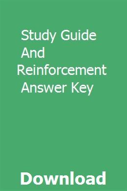 Study Guide And Reinforcement Answer Key | geifranacdi