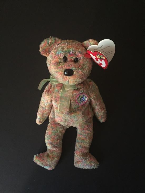 Speckles The Bear TY Beanie Baby Retired with Hang and Plush Tag Authentic. e1b2b2c3a337