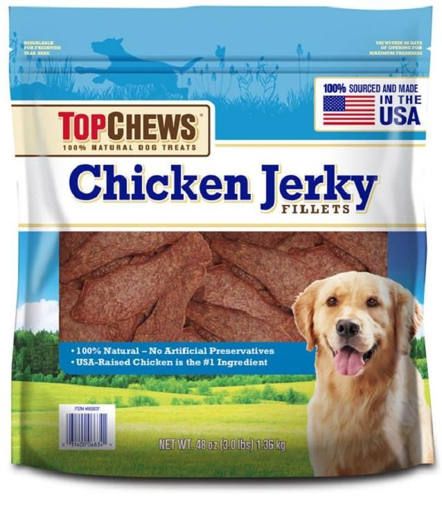 Top Chews Chicken Jerky Fillets Recipe 100 Natural Dog Treats