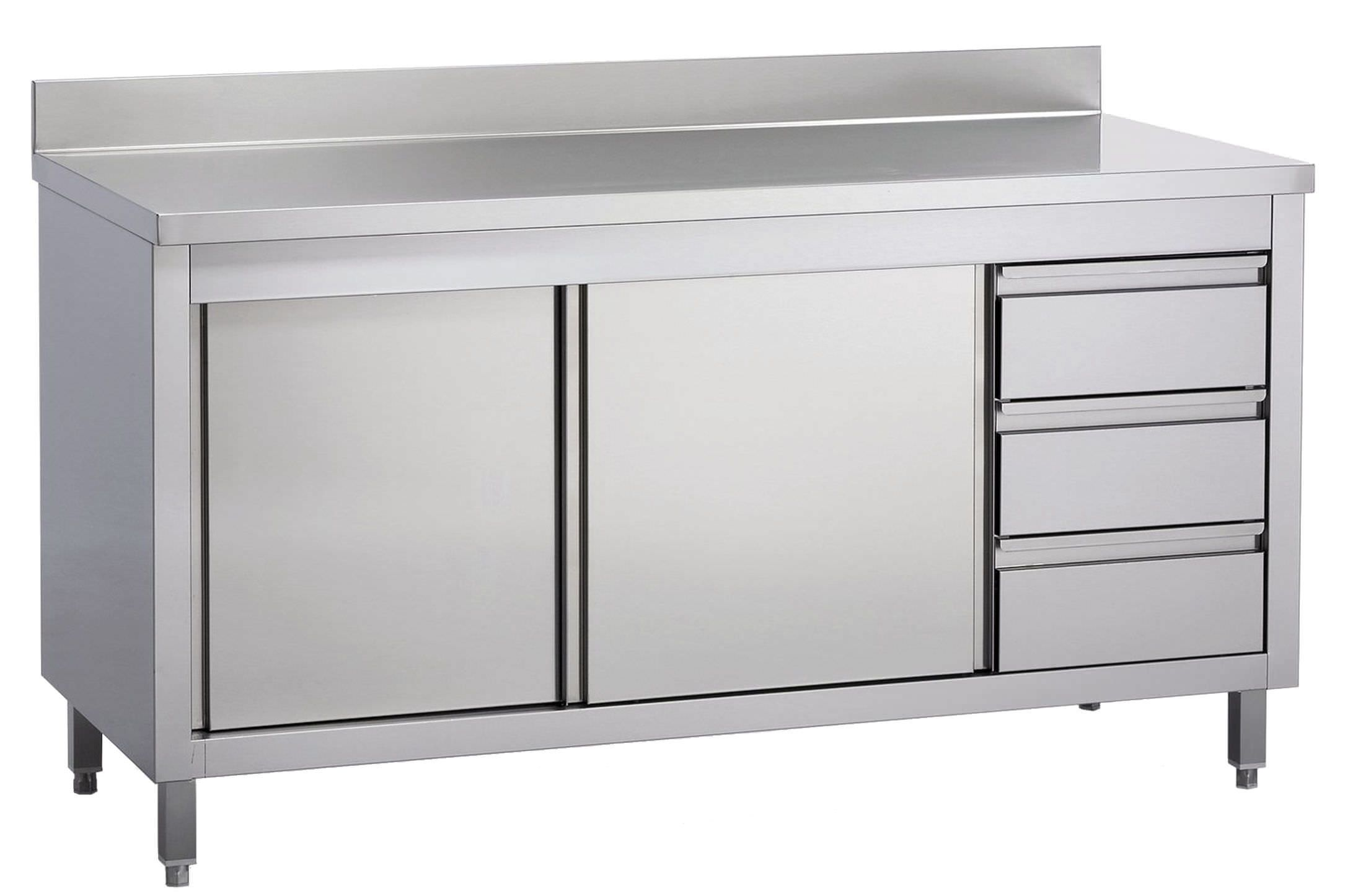 Stainless Steel Prep Table With Storage Compartment Elettrainox