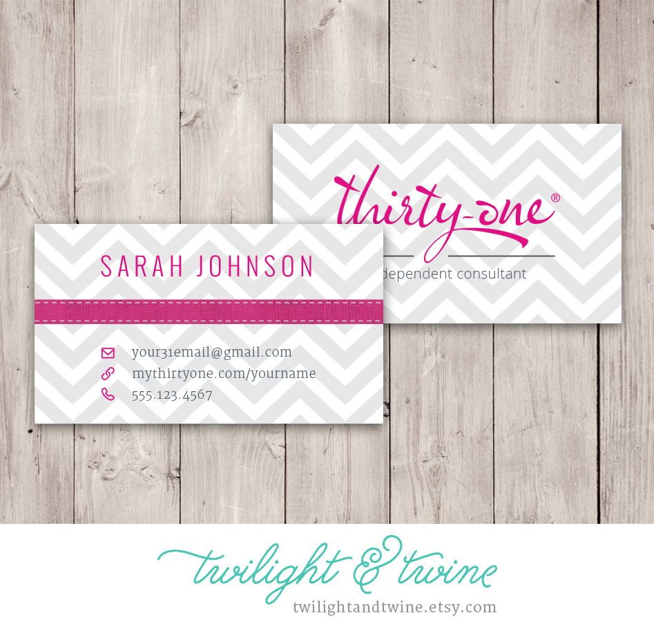 Thirty-one Chevron Business Card - Custom PDF (Vista Print) by ...