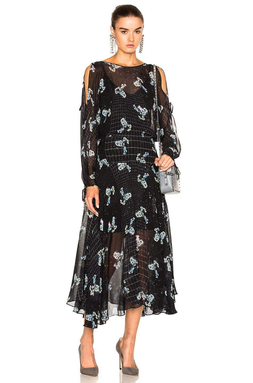 constellation print dress - Black Preen qlpjZv8