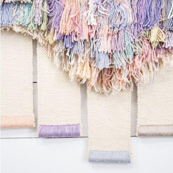 Vintage Weaving Wall Hanging Textile Fiber Art by KOLORIZE