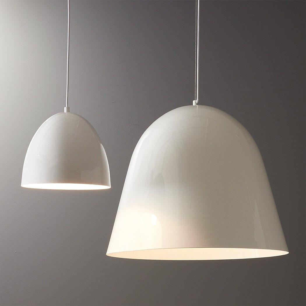 Capitol White Bell Shaped Pendant Light Reviews Cb2 White Modern Pendant Light Pendant Light Large White Pendant Light