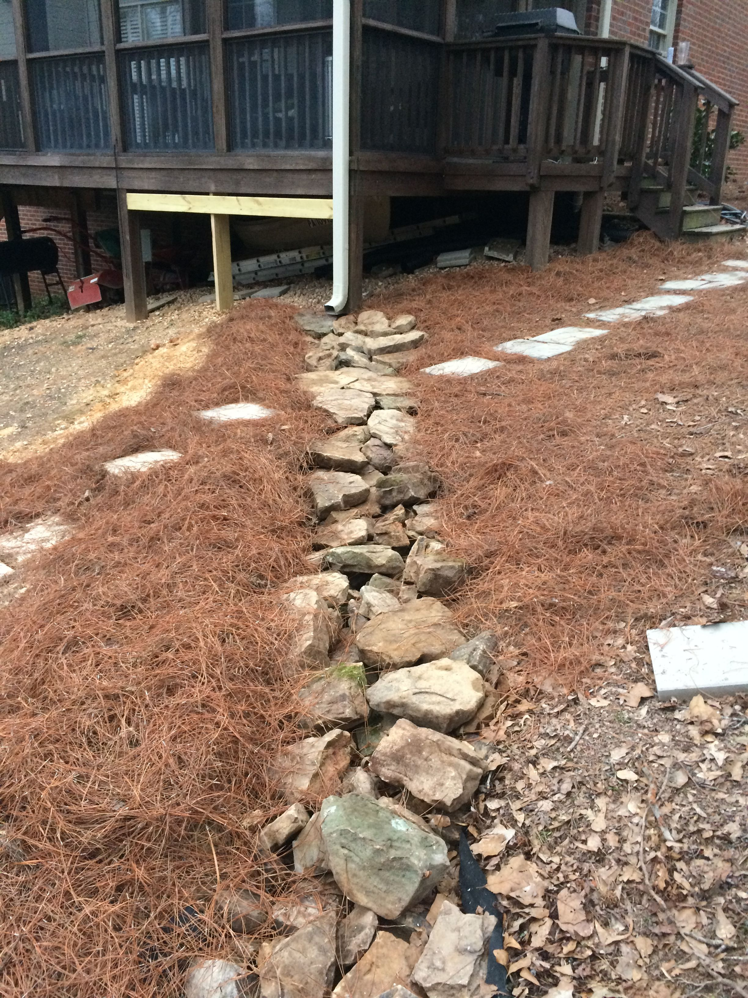 Inexpensive Erosion Control Natural Rock Flume To Divert