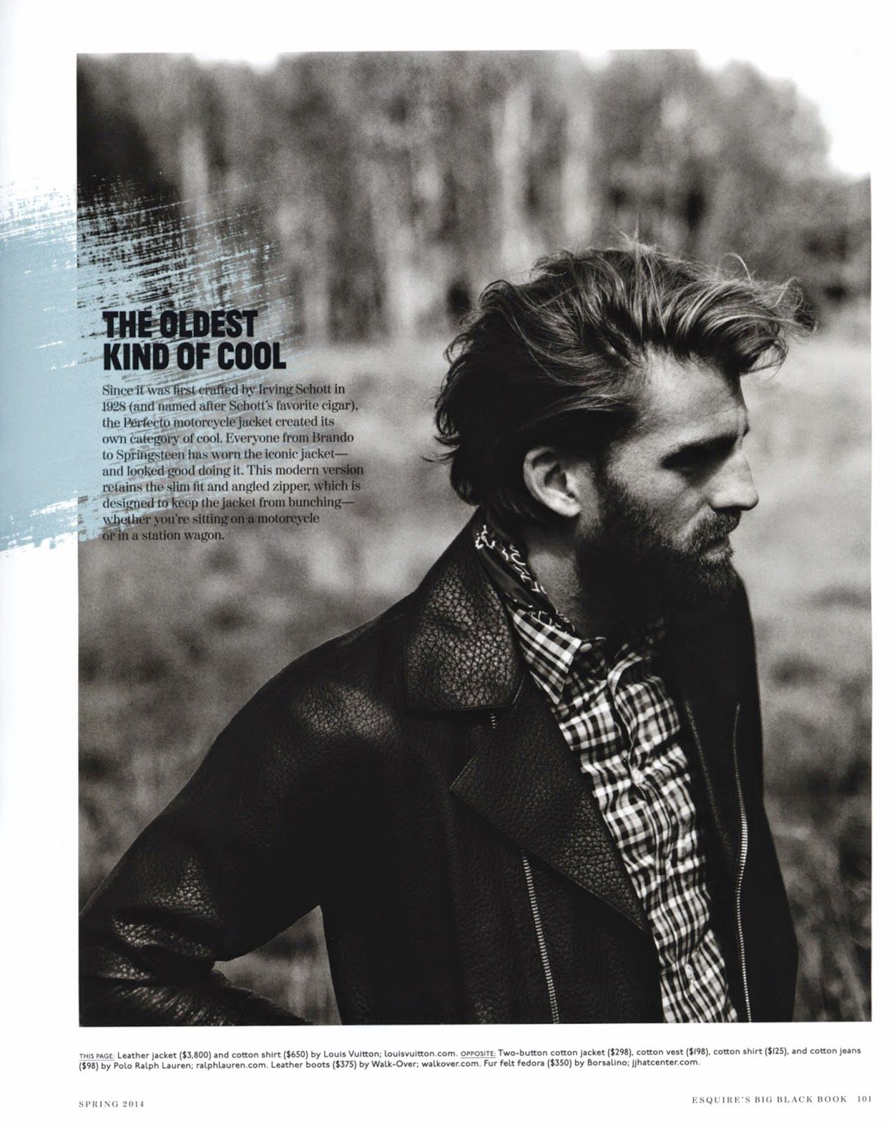 "Calle Strand for ESQUIRE ""The Big Black Book""! 