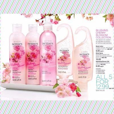 LeAnn Shirley's Avon Blog:   BLUSHING CHERRY BLOSSOM COLLECTION  The scent of... Great set - shop at www.youravon.com/lshirley