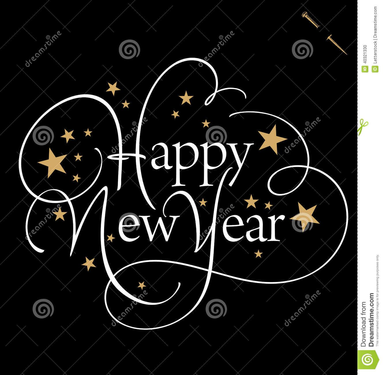 HAPPY NEW YEAR Hand Lettering (vector) Download From