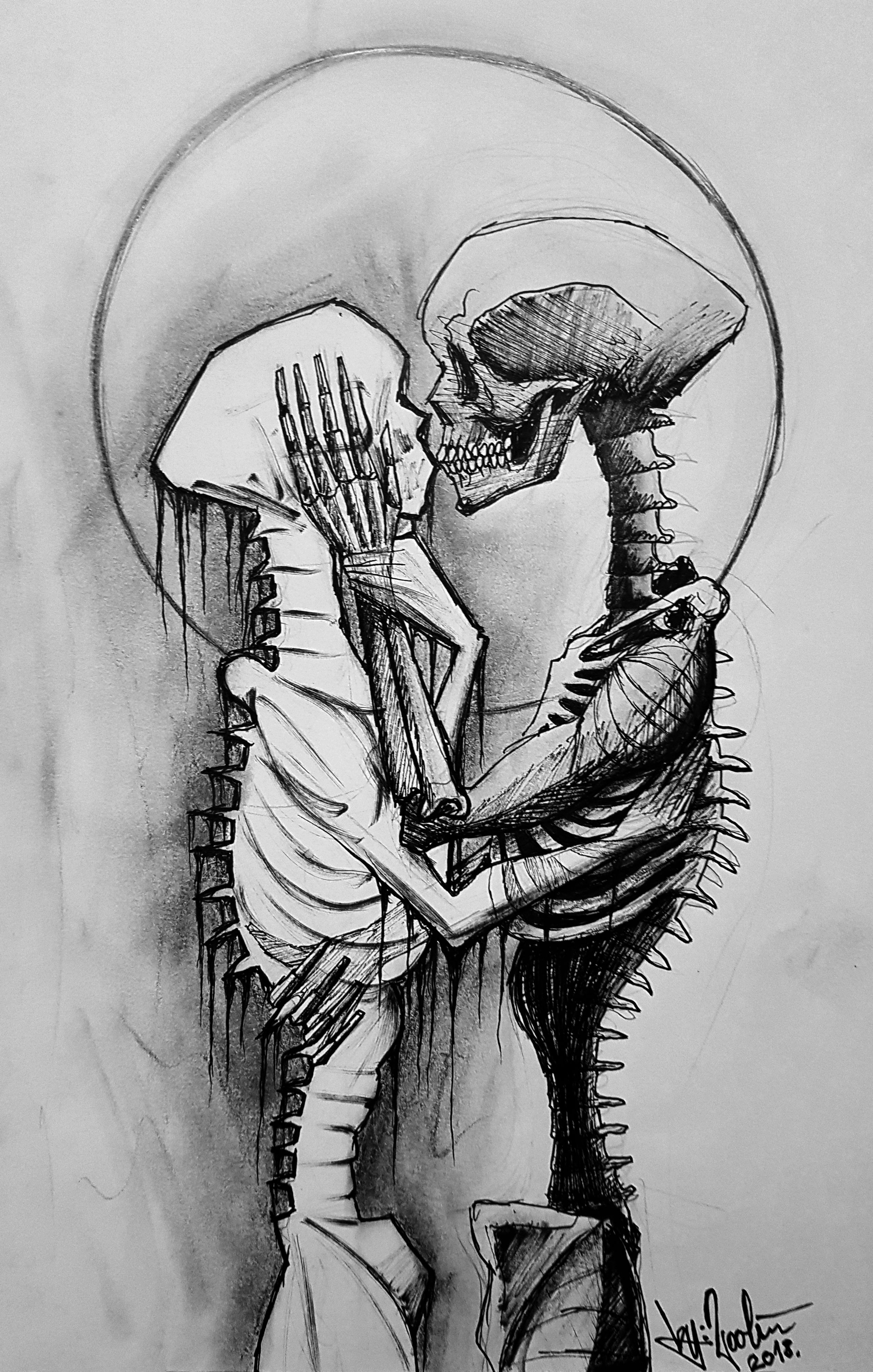 04aa4bc096 LOST LOVE // ELVESZETT SZERELEM #art #artist #dark #black #skeleton  #feelings #badtrip #under #the #skin #undertheskin #byrooli #kelemenstyle  #mystyle ...