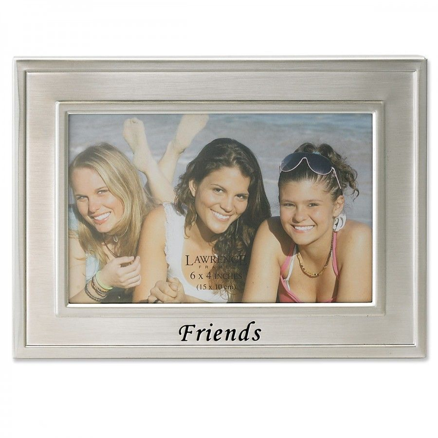 Lawrence Frames Sentiments Friends Picture Frame in Silver - 504364