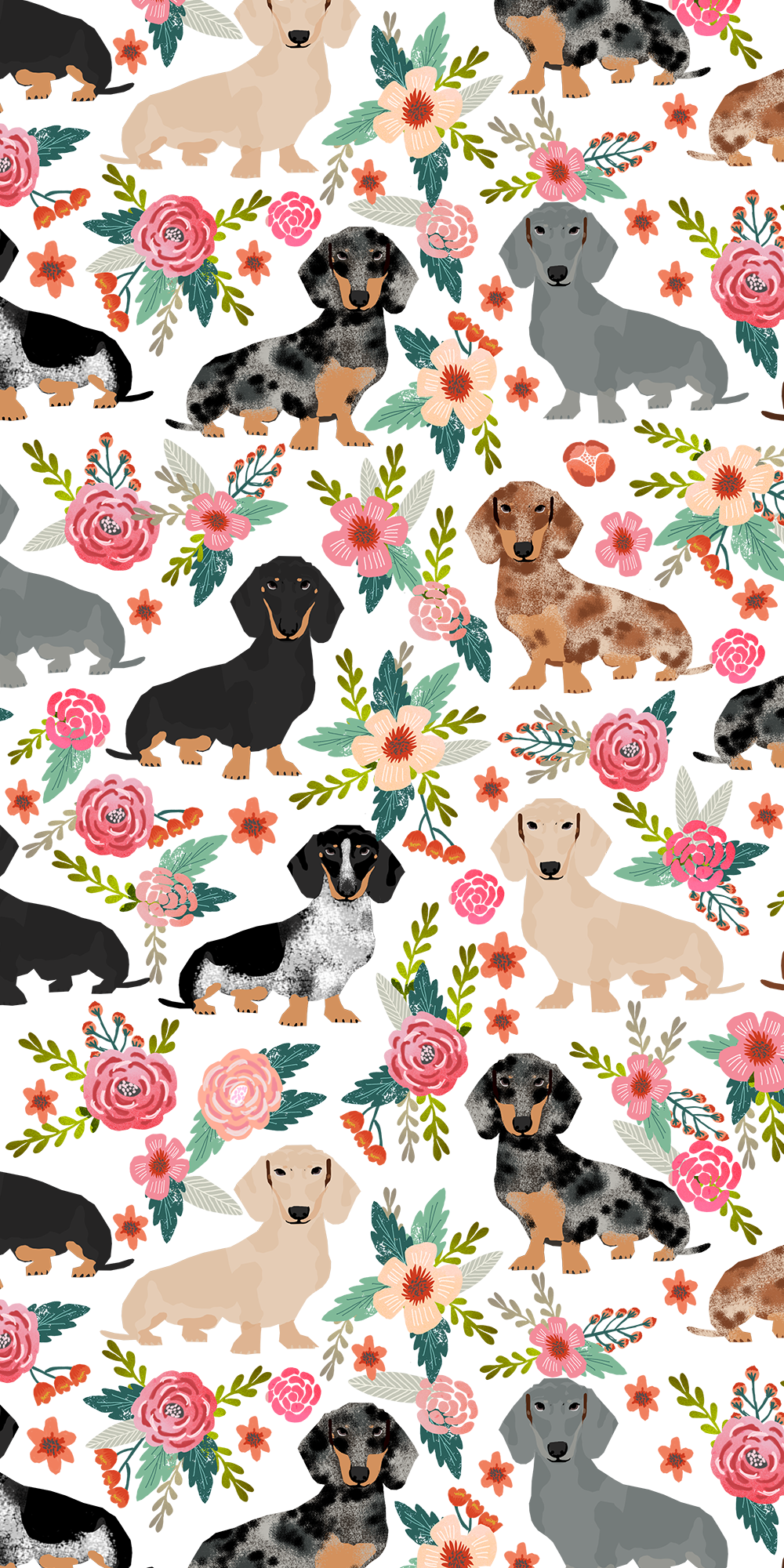 Dogs Floral Crown Casetify Iphone Art Design Animals