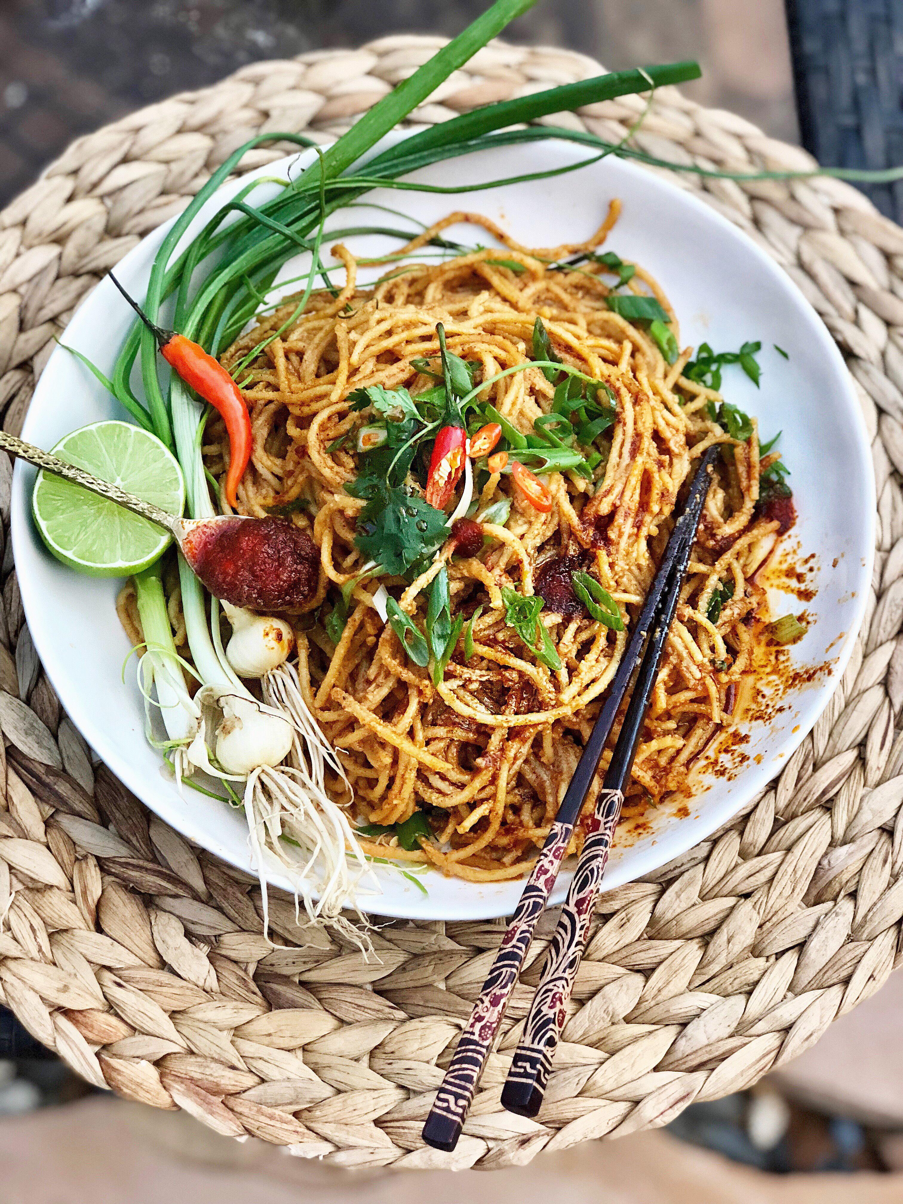 Vegan Dan Dan Mian Noodles Giveaway Sesame Chicken
