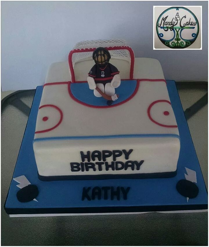 Hockey Cake My Cakes Pinterest Hockey cakes Hockey and Cake