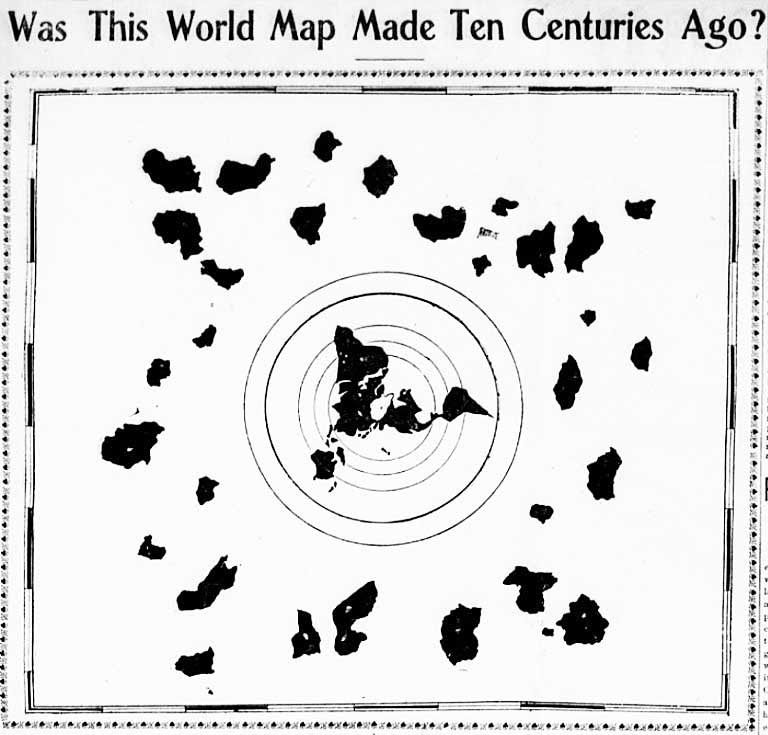 Flat Earth Antarctica The 1000 Year Old Buddhist Map Karte