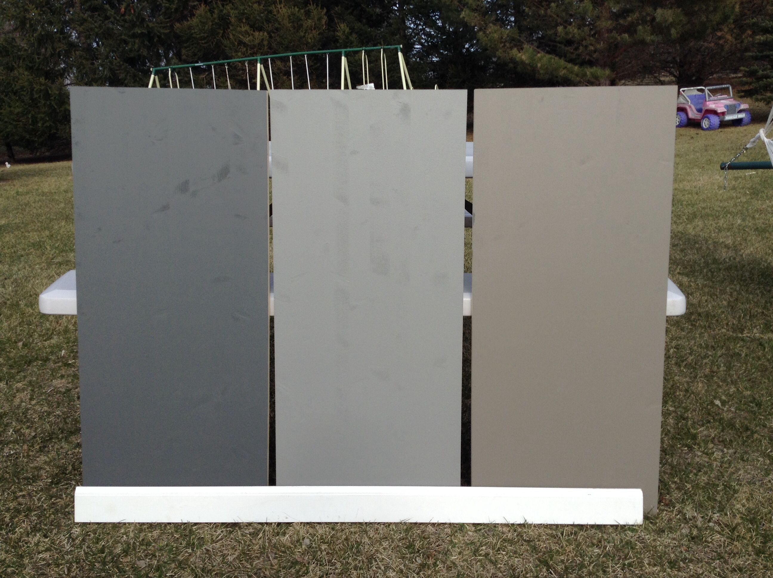 Benjamin Moore Kendall Charcoal Sherwin Williams Dovetail Sherwin Williams Backdrop In The