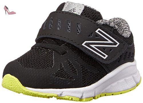 New Balance Vazee Rush I Running Shoe (Infant/Toddler), Black/Yellow