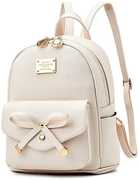 Amazon.com  Fayland Women Teens Girls Leather Backpacks Purses Convertible  Shoulder Bag Off-white  Shoes f3803e87f12f3