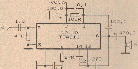 tba611 amplifier schematic hubby project pinterest circuit rh pinterest com