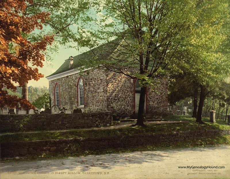 Sleepy Hollow, New York, Old Dutch Church and Burying Ground, 1904, historic photo