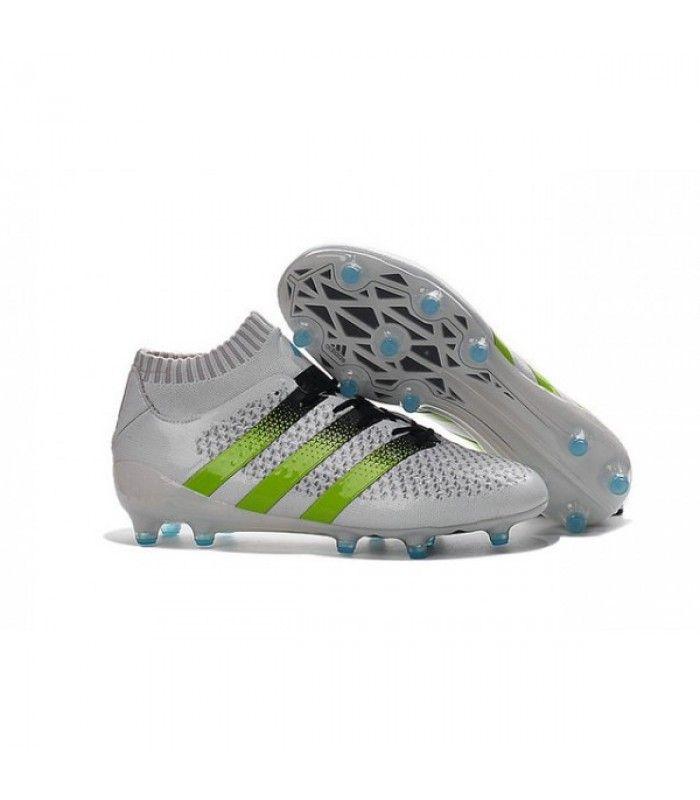 quality design 4ec17 f5694 ... 50% off acheter nouvelles chaussures adidas ace 16.1 primeknit fg ag  blanc vert noir pas
