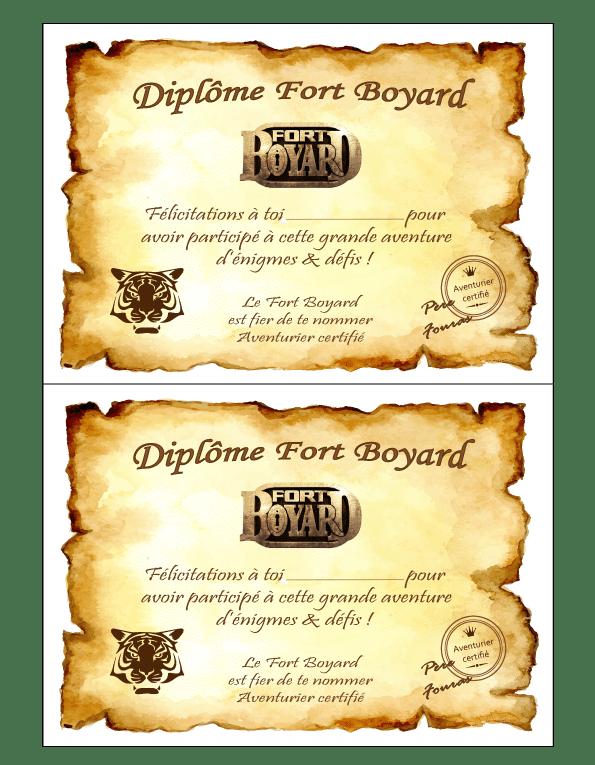 Invitation Anniversaire Fort Boyard