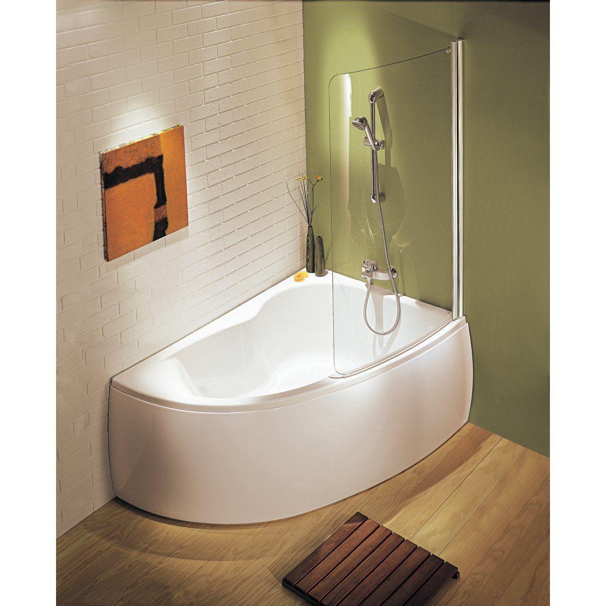 baignoire micromega 150x100 angle droite avec pieds r glables blanc r f e60218 00 maison. Black Bedroom Furniture Sets. Home Design Ideas