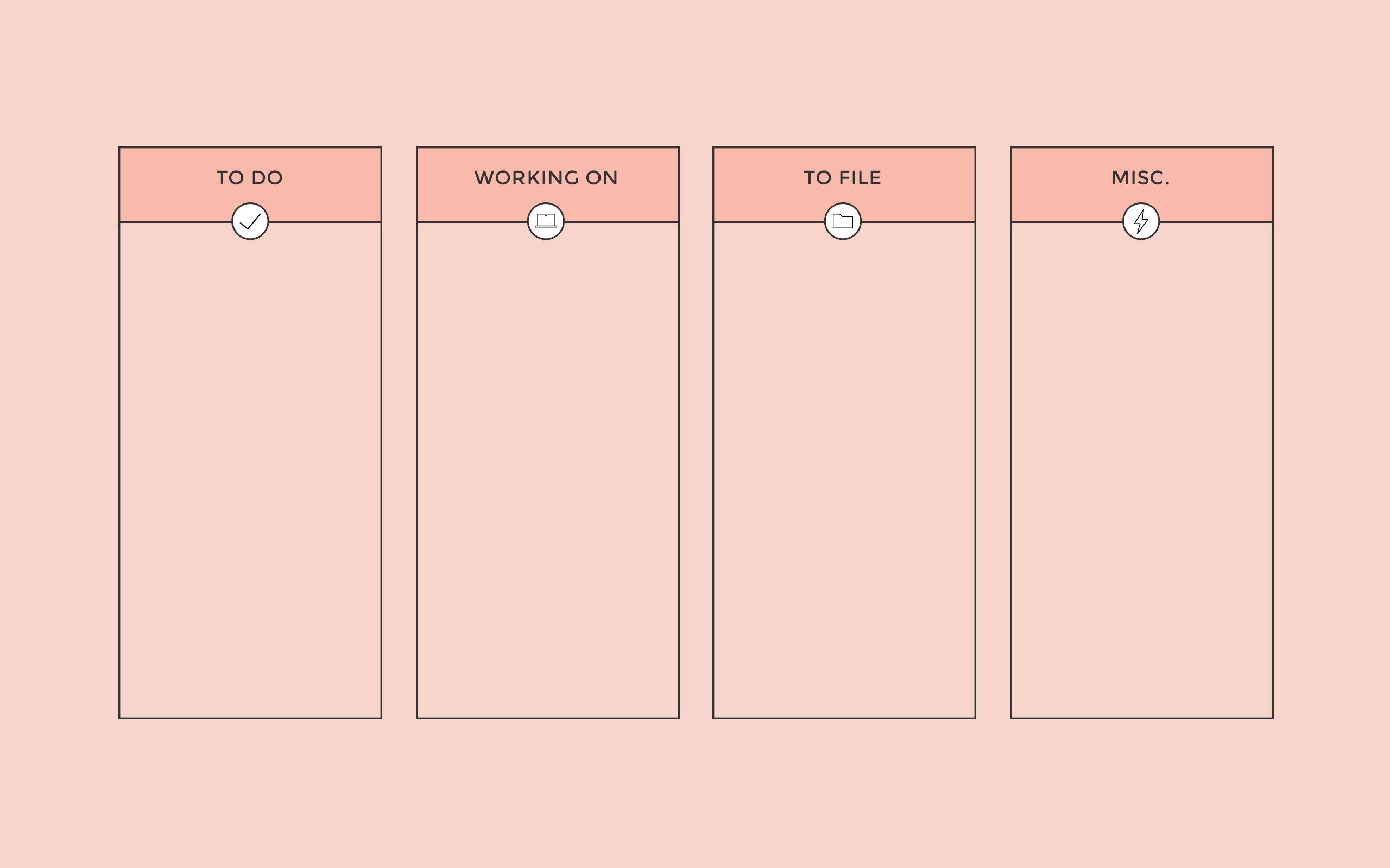 C Peach Columns Desktop Organizer Wallpaper Background