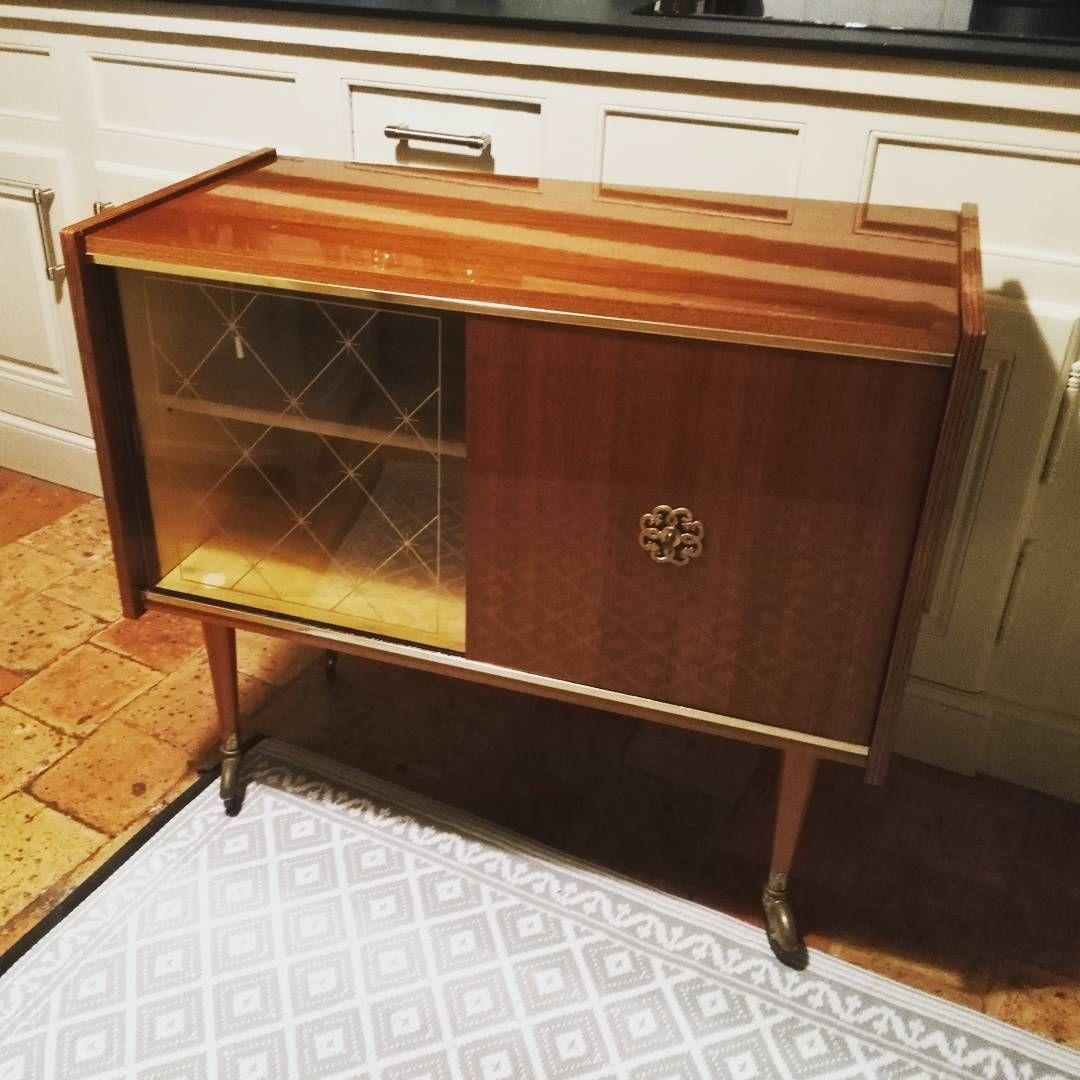 meuble des Rénovation années 1970 acajou d'un bar plaqué dxBoeC