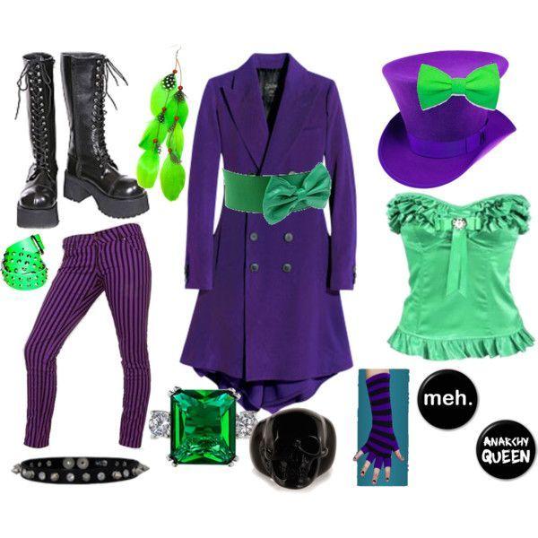 joker inspired diy joker costumefemale - Joker Halloween Costume For Females