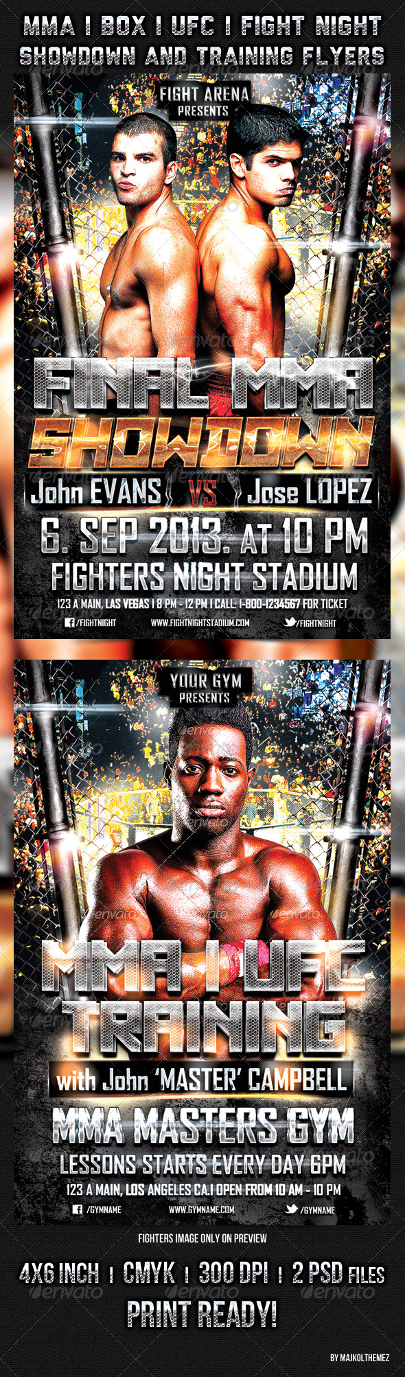 MmaUfcBox Showdown And Training Flyers  Mma Ufc And Flyer Template