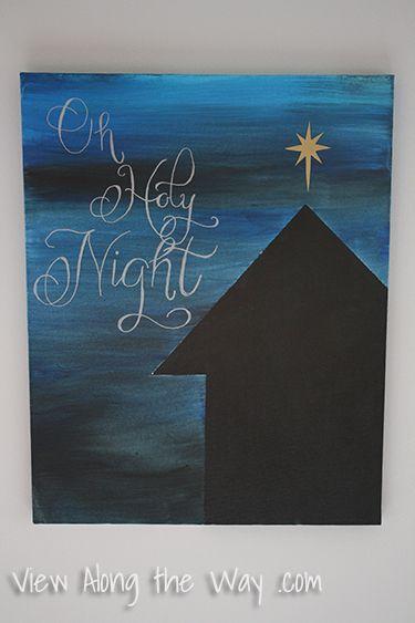 Christmas Canvas Art On Pinterest