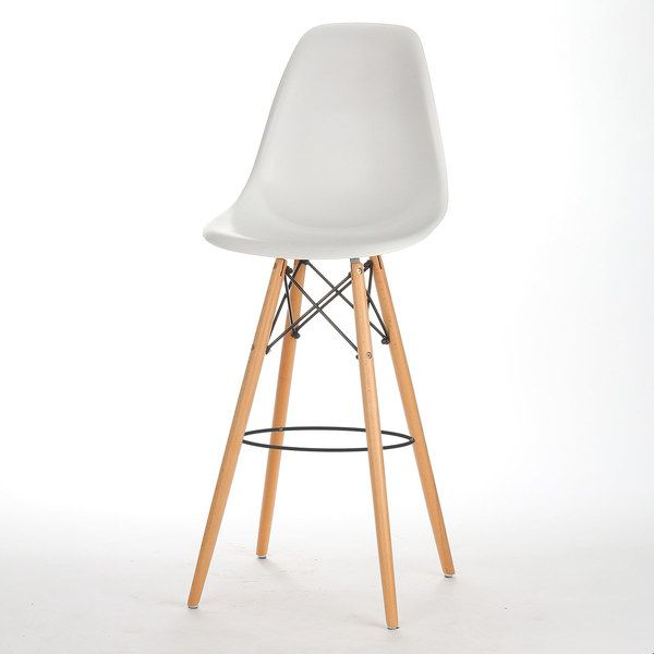 This New Release White Eames Inspired Bar Stool With Back Elevates