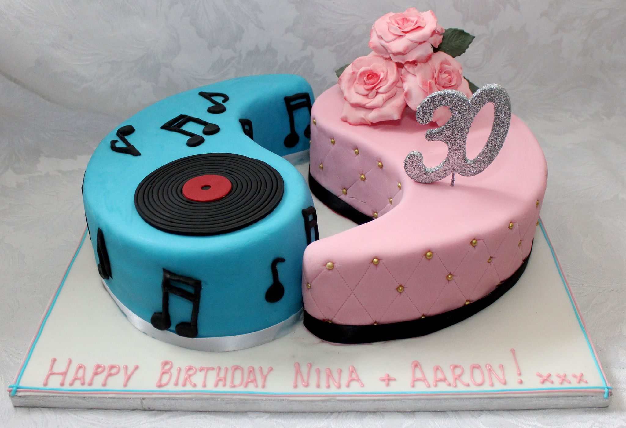 Outstanding Birthday Cake For Twin Brother And Sister Twins Cake Sister Personalised Birthday Cards Veneteletsinfo