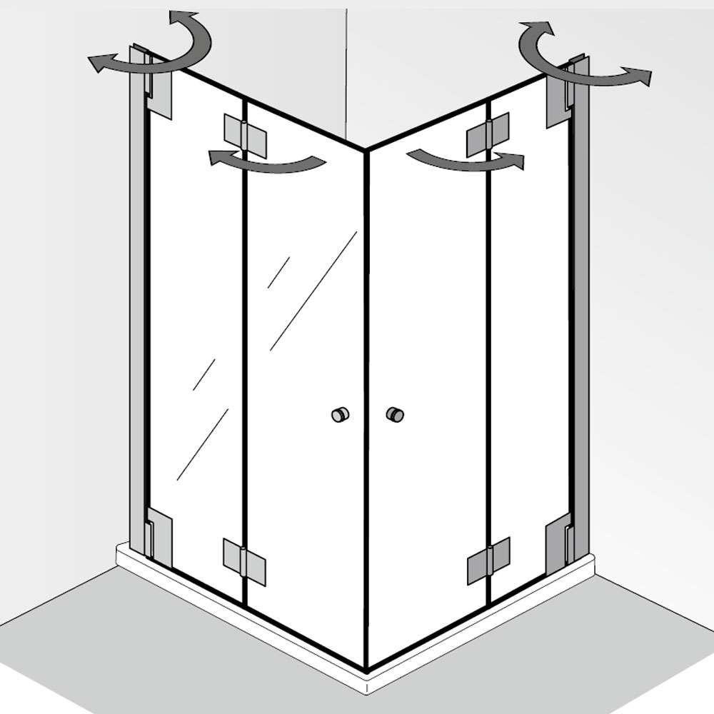 Hsk K2p Eckeinstieg Mit Drehfalttur Lavatory Design Small