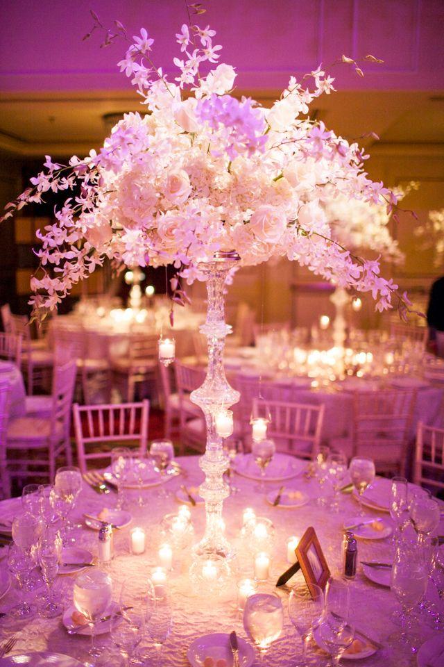 Center Piece From A Wedding At The Taj In Boston Ma Elegant Wedding Flowers Silver Wedding Decorations Wedding Table Flowers