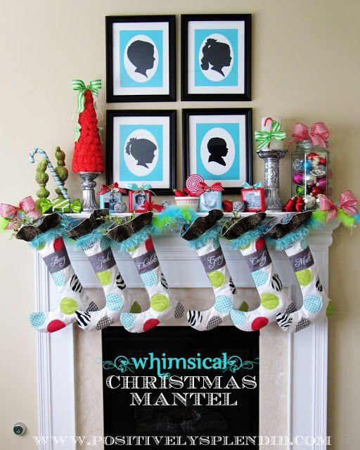 Whimsical Christmas Mantel Decor Christmas mantel decor, Christmas