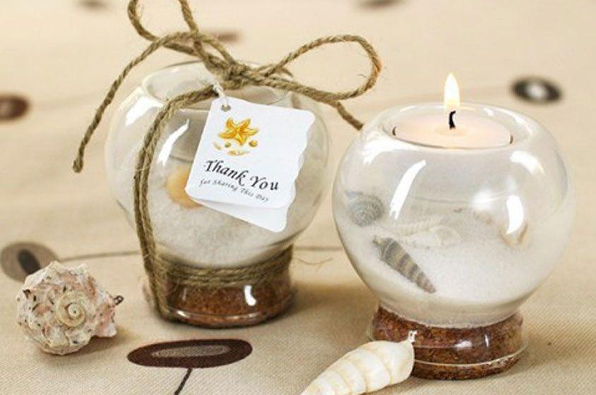 هدايا معازيم الزفاف صيفية بامتياز Tea Light Holder Wedding Candle Wedding Favors Beach Wedding Favors