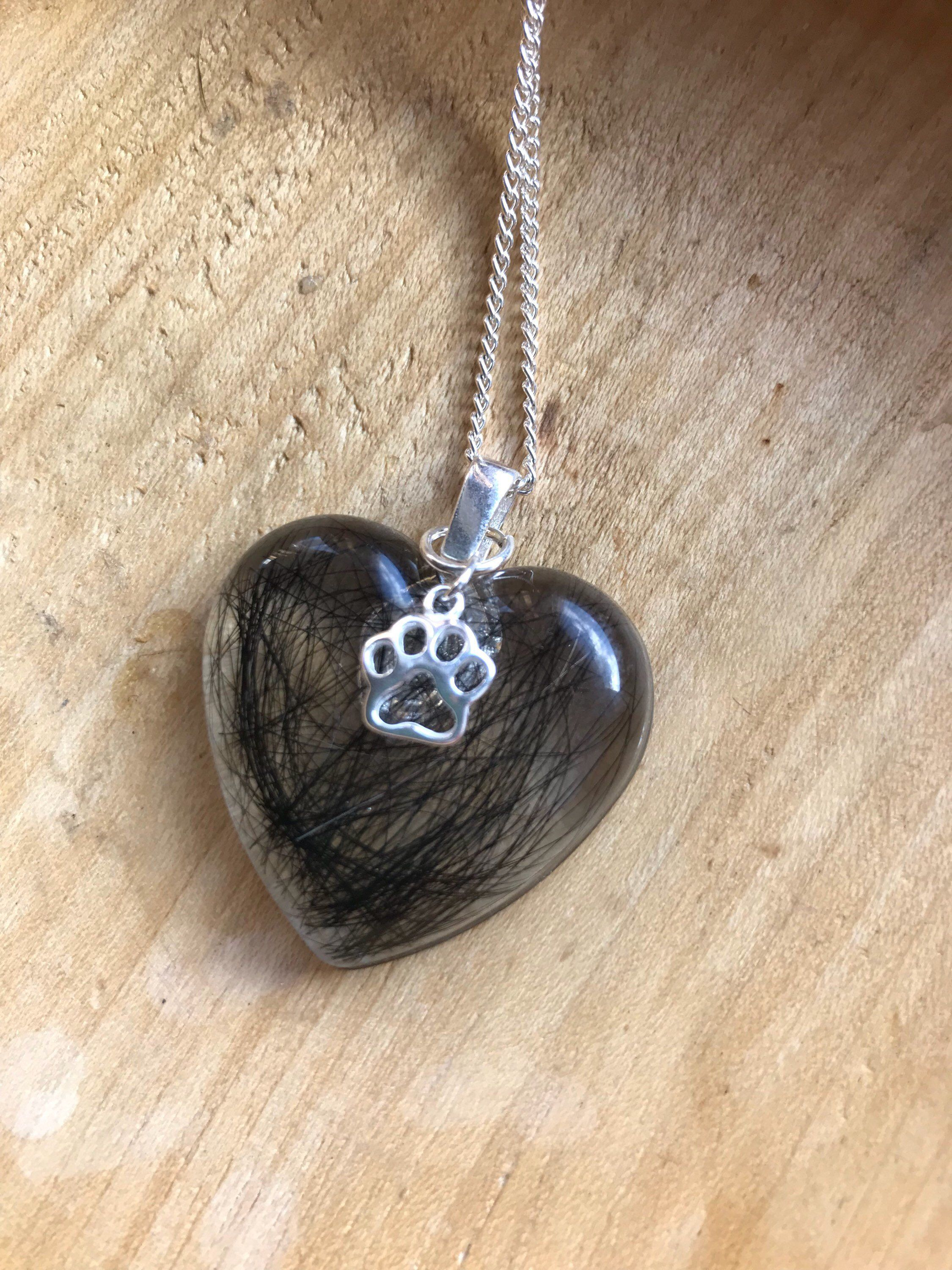 Heart Shape Dog Picture Pendant