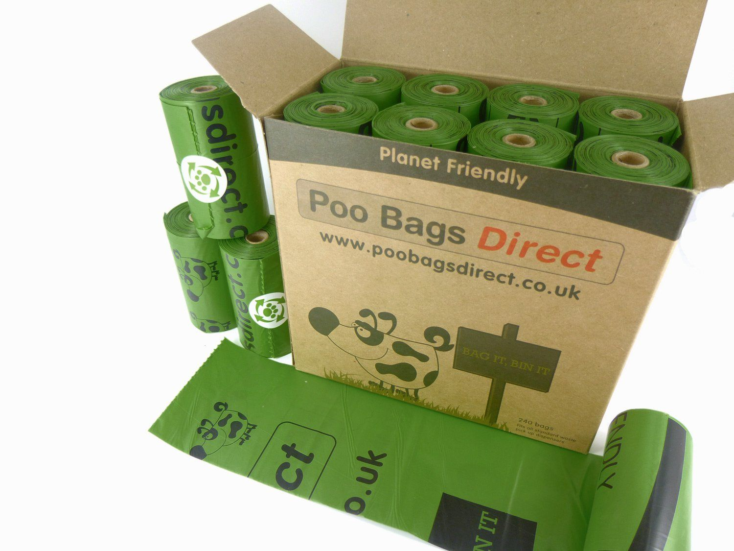 Biodegradable 240 Dog Bags 16 Rolls With 15 Poo Per Roll Eco Friendly Waste Value For Money Pack Bulk High Quality