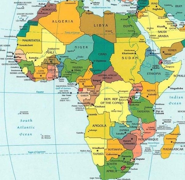 List of african countries and capitals maps charts map info list of african countries and capitals gumiabroncs Gallery