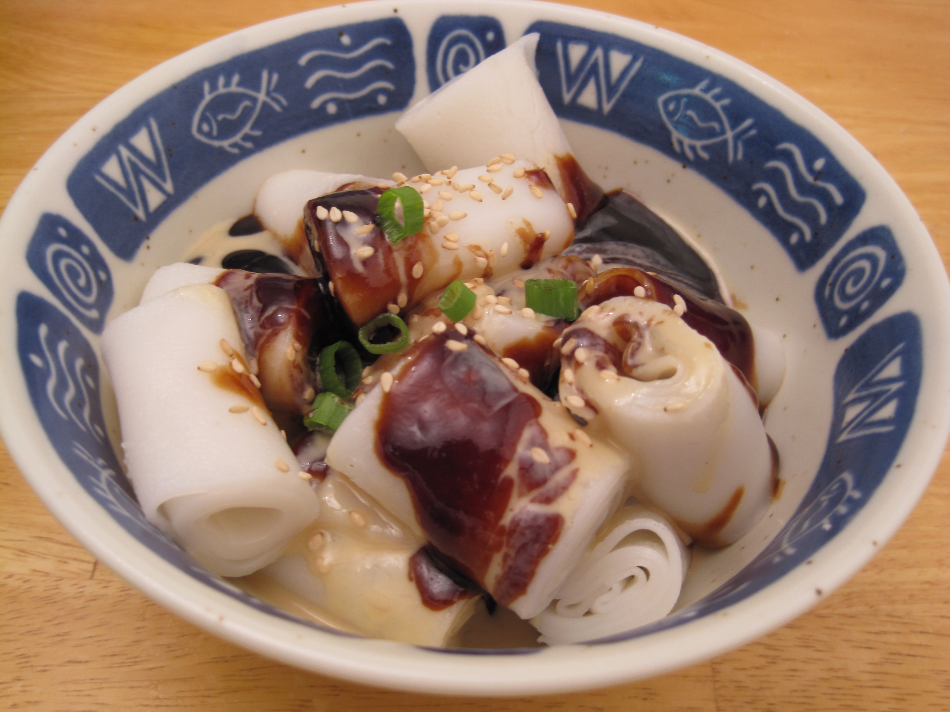 cheong fun with teem cheong rice noodle roll with sweet