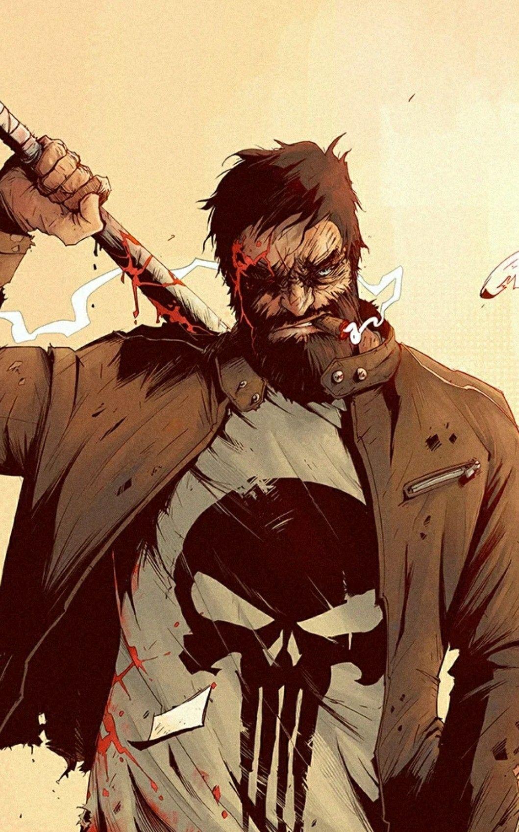 Punisher art image by Alden Burnell on Frank Castle