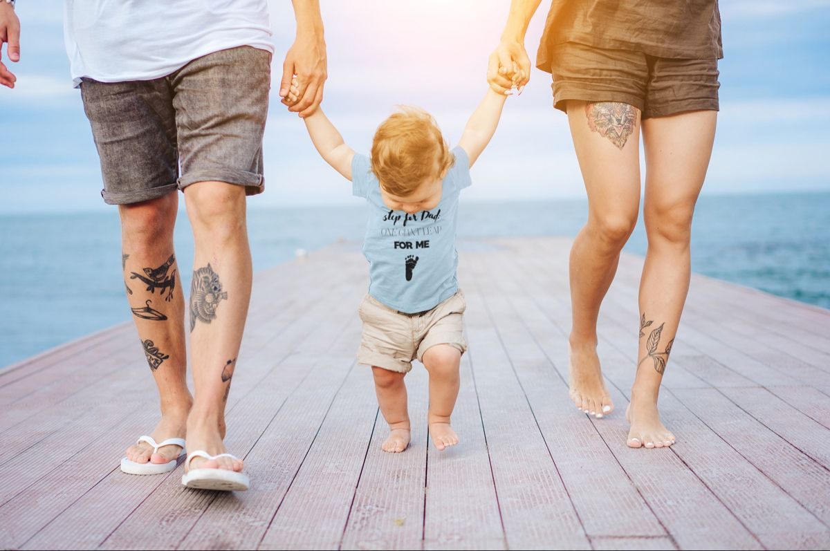 We all want our kids to be the best they can be. Add some motivation to your little ones wardrobe with this onesie. #fatherandson #familyphotooutfits #daddyslilmonster #outfitideas #familygoals #familyphotography #kidstshirts #cuteoutfit