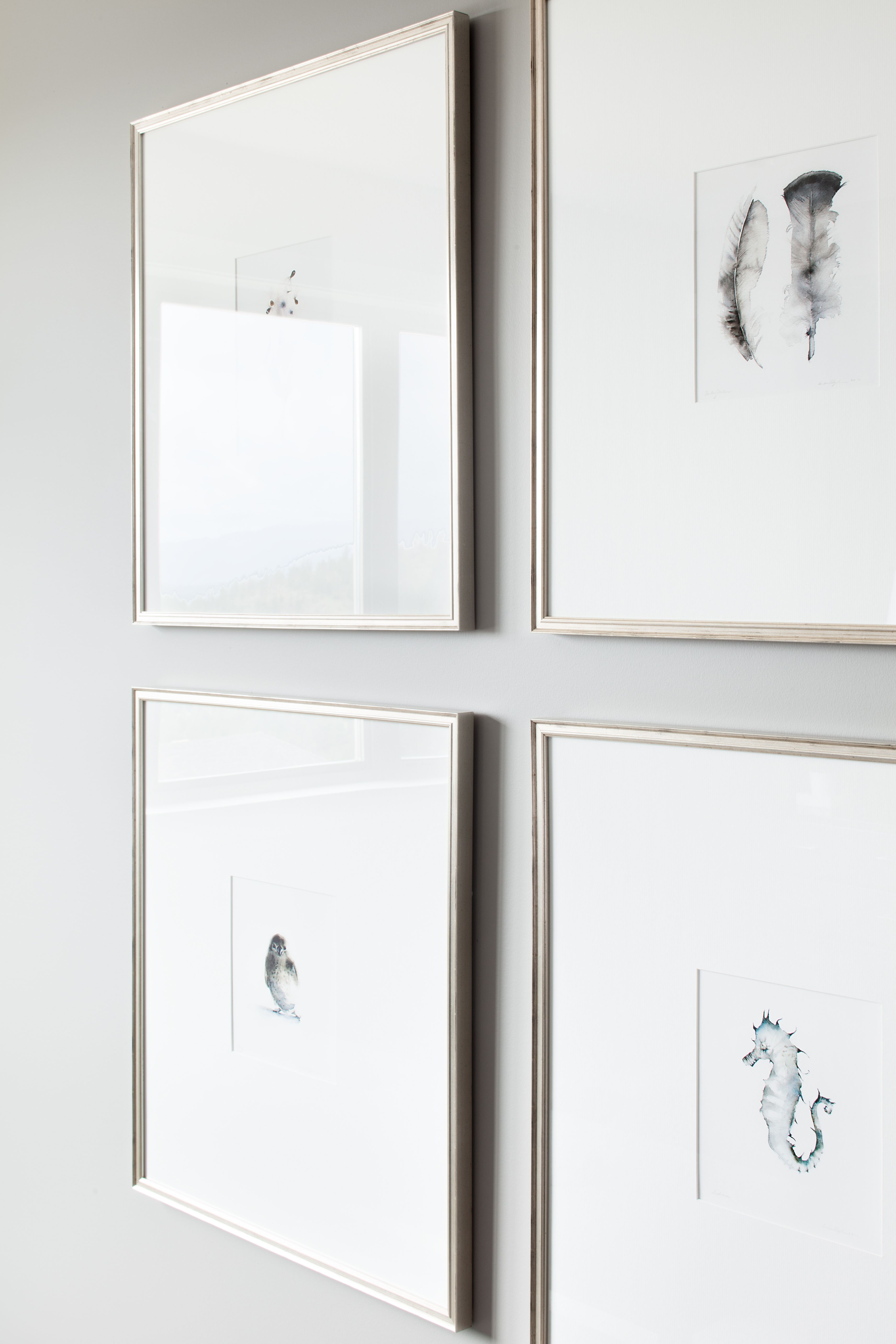 narrow silver frames with large white matts | things i would like in ...