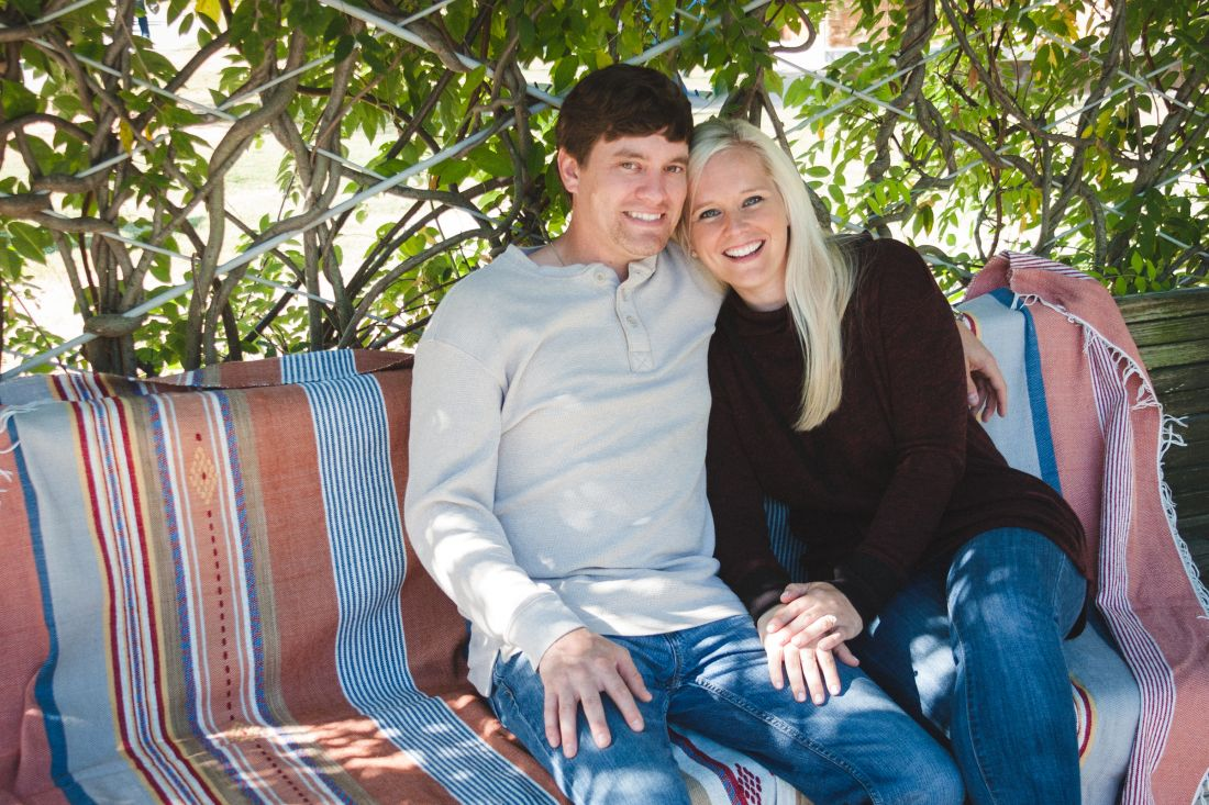 Southern fall engagement.  casual outdoor session