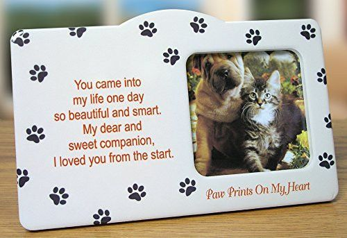 Pet Memorial Picture Frame - Paw Prints on my Heart Poem | Dogs ...
