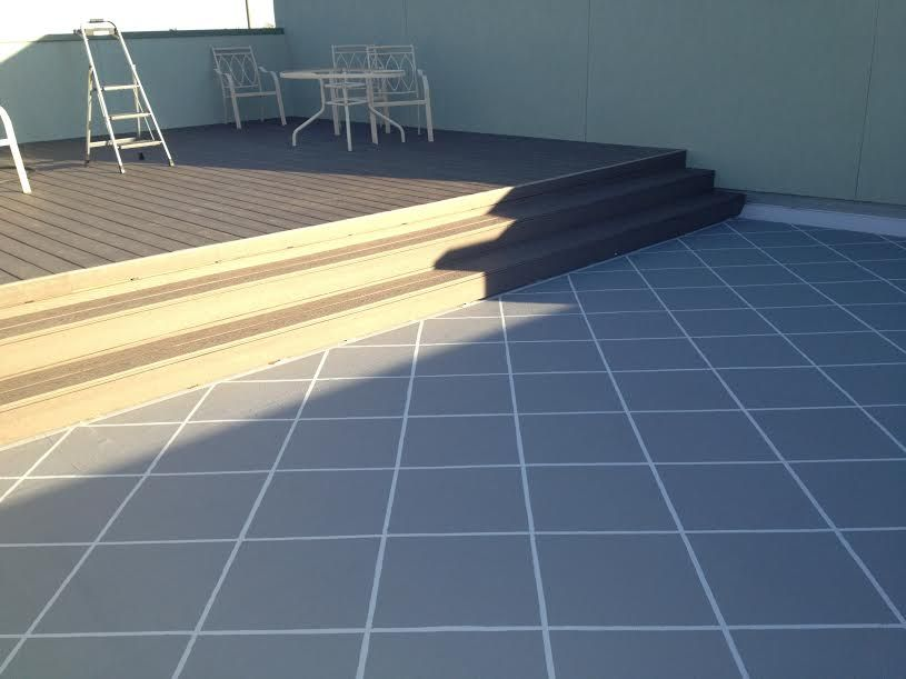 4th Floor Roof Terrace Hydro Stop With A Tile Design In The