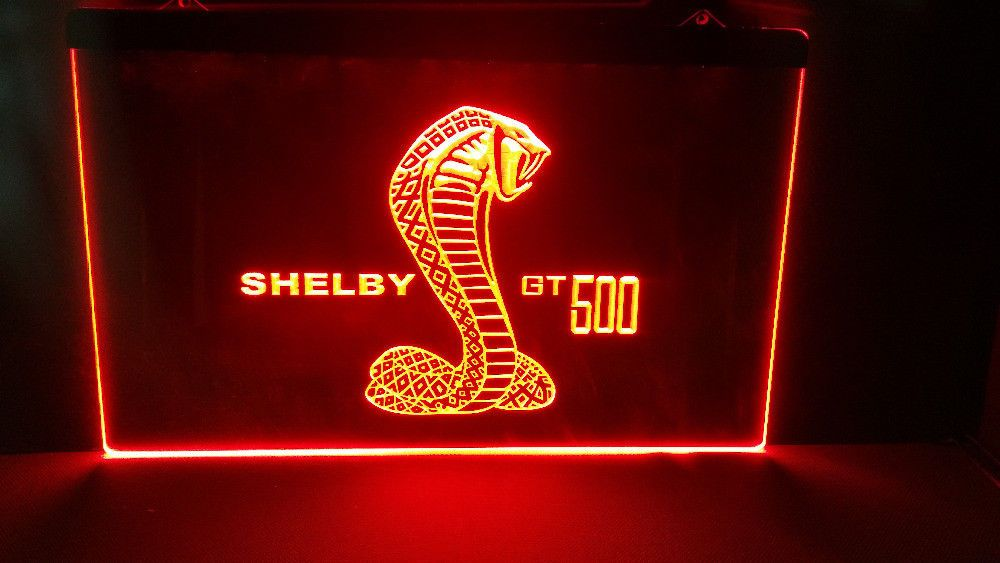 Ford Shelby Gt500 Cobra Led Neon Light Sign Sports Muscle Car Gt