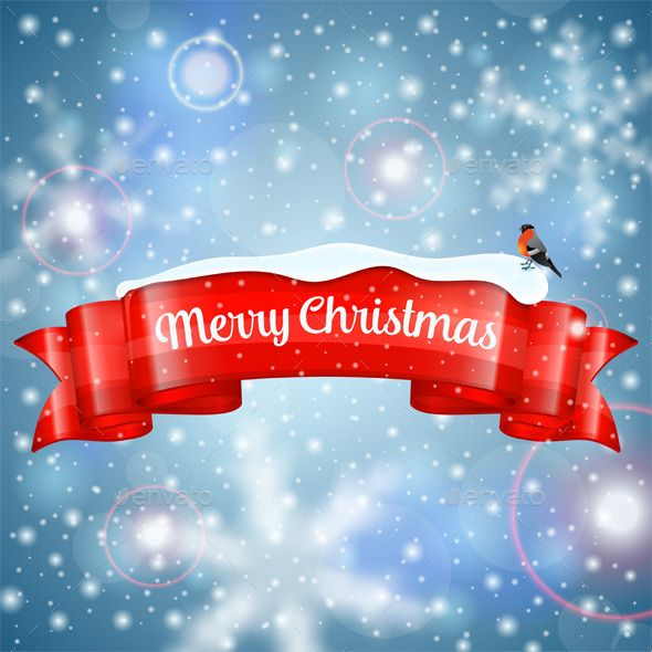 christmas background bullfinch filing and font logo